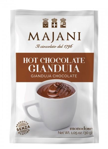 Hot Chocolate -Gianduia, Trinkschokoladenpulver Nougat, Display mit 25 Einzelportionen a 3