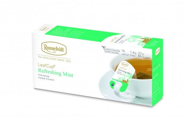 Ronnefeldt Tee LeafCup Refreshing Mint, 6 x 15 Stück