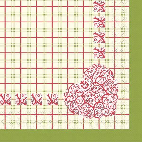 """MANK Servietten Cottage Style, """" MEG """" aus Tissue, 3-lagig, 40x40 cm"""