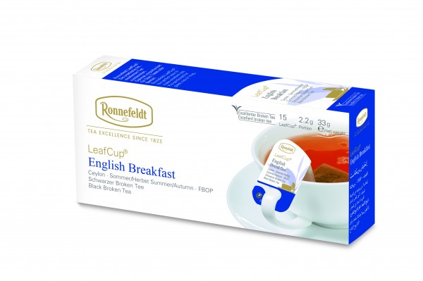 Ronnefeldt Tee LeafCup English Breakfast , 6 x 15 Stück