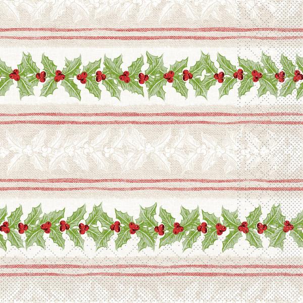 MANK Weihnachtsserviette MAGDA, Tissue 33x33 cm, 3-lagig, 600 Stück