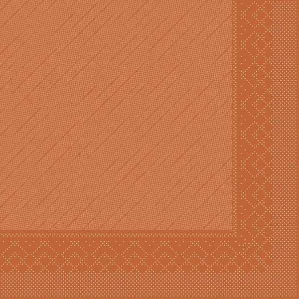 Mank Servietten Tissue Deluxe, 4-lagig, 40 x 40 cm, 12 x 50 Stück, terrakotta