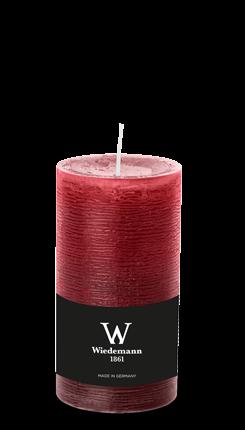 Wiedemann Marble Kerzen durchgefärbt, 130x68 mm, bordeaux, 8 Stück