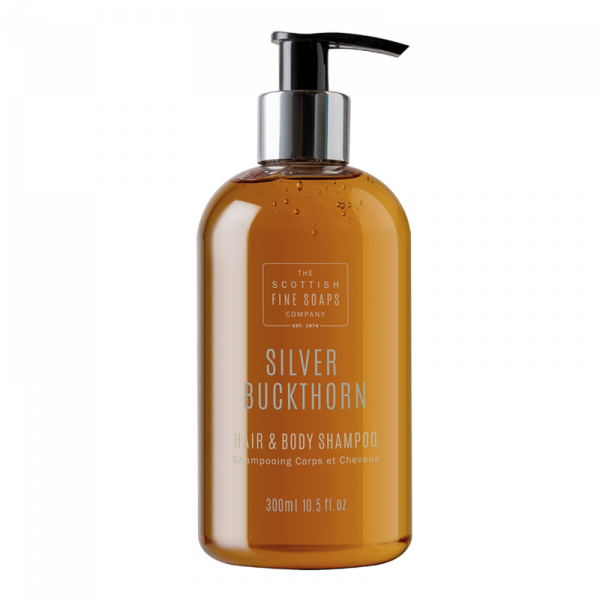 Silver Buckthorn Hair & Body Shampoo 300 ml, Pumpspender