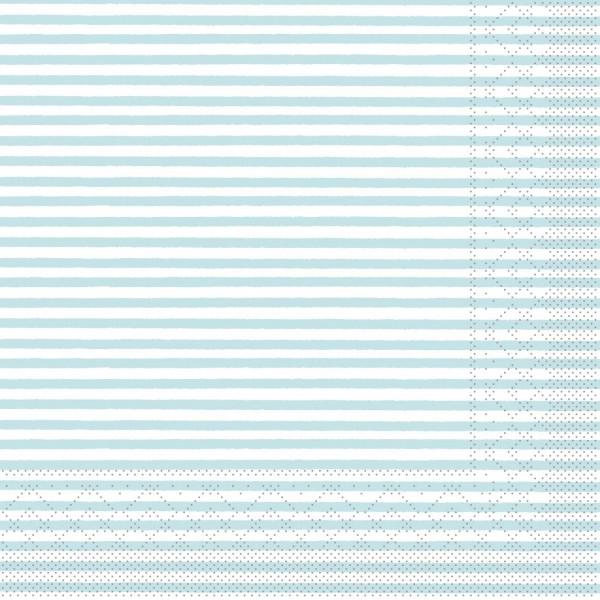 """MANK Servietten Structure, """"HEIKO HELLBLAU"""" aus Tissue, 3-lagig, 40x40 cm"""