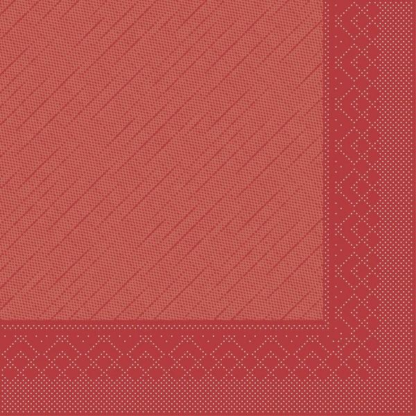 Mank Servietten Tissue Deluxe, 4-lagig, 40 x 40 cm, 12 x 50 Stück, rot