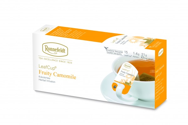 Ronnefeldt LeafCup Fruity Camomile, 6 x 15 LeafCup