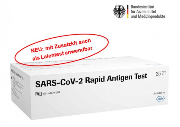 ROCHE Antigen-Schnelltest, Laientest, BfArM Zulassung, Produktdatenblatt