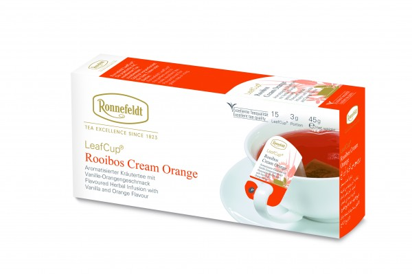 Ronnefeldt Tee LeafCup Rooibos Cream Orange, 6 x 15 Stück