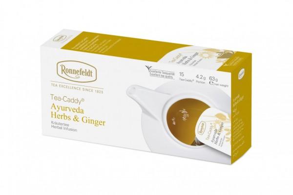 Ronnefeldt Tea-Caddy Ayurveda Herbs & Ginger, 5 x 15 Portionen