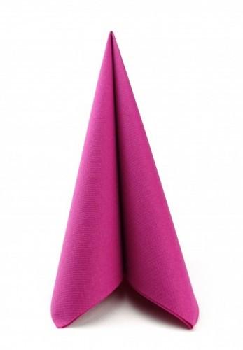 Mank Servietten Linclass Dinner, 40 x40cm, 12 x 50 Stück, pink