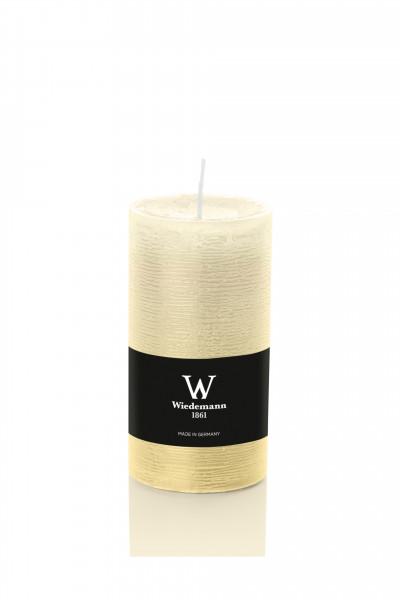 Wiedemann Marble Kerzen durchgefärbt, 100x68 mm, creme, 8 Stück