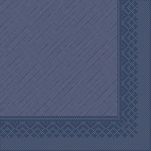 Mank Servietten Tissue Deluxe, 4-lagig, 40 x 40 cm, 12 x 50 Stück, blau
