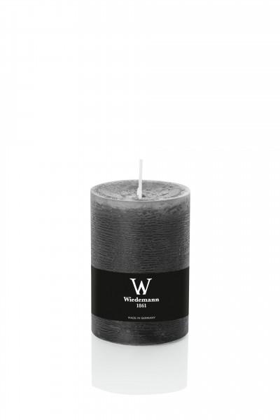 Wiedemann Marble Kerzen durchgefärbt, 100x68 mm, dunkelgrau, 8 Stück