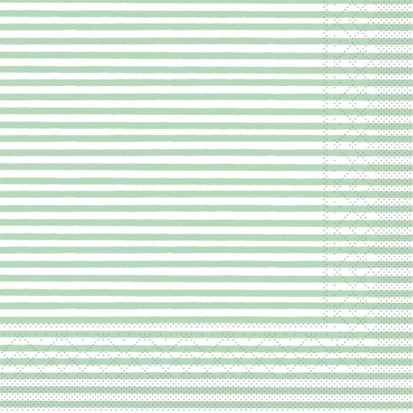"""MANK Servietten Structure, """"HEIKO MINTGRÜN"""" aus Tissue, 3-lagig, 40x40 cm"""