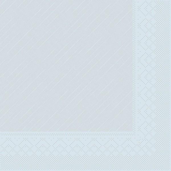 Mank Servietten Tissue Deluxe, 4-lagig, 40 x 40 cm, 12 x 50 Stück, hellblau