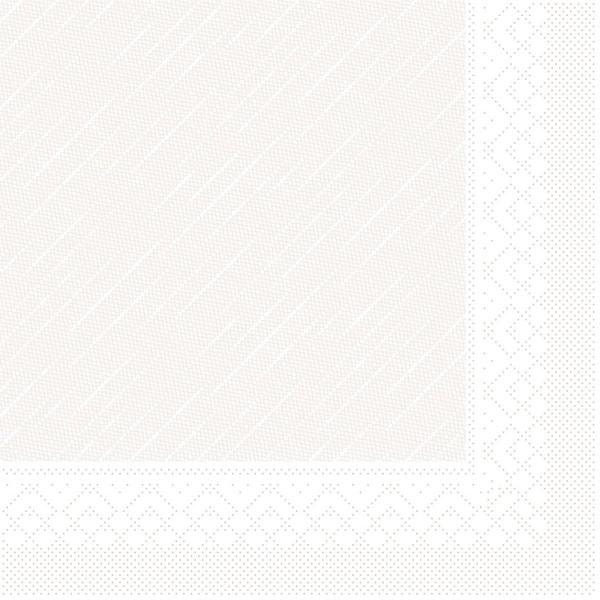 MANK Servietten aus Tissue 3-lagig, 33x33 cm, weiß