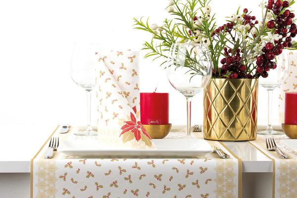 MANK Weihnachtsserviette ANJA 40x40 cm, Linclass, 300 Stück