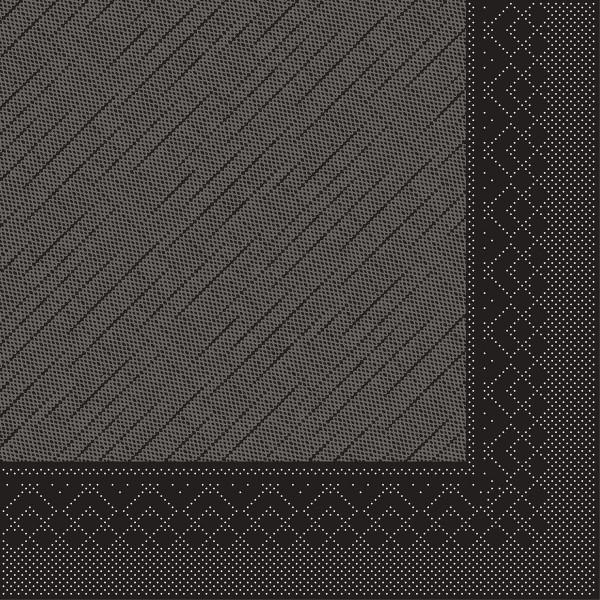 Mank Servietten Tissue Deluxe, 4-lagig, 40 x 40 cm, 12 x 50 Stück,schwarz