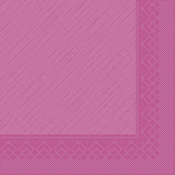 MANK Servietten aus Tissue 3-lagig, 33x33 cm, violett