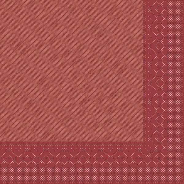 MANK Servietten aus Tissue 3-lagig, 33x33 cm, bordeaux