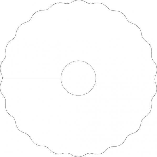 Mank Pilsdeckchen Classic weiß, 90mm, 20mm Loch rund