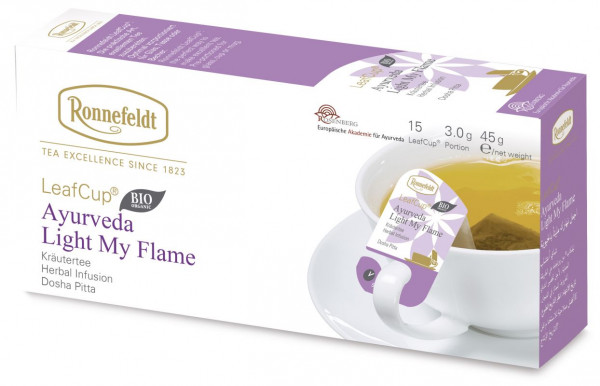 Ronnefeldt Ayurveda Tee, Light My Flame , 6 x 15 LeafCup-BIO