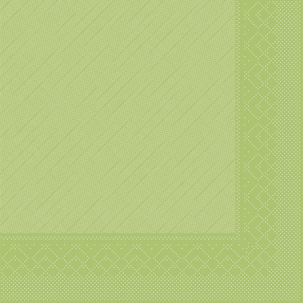 MANK Servietten aus Tissue 3-lagig, 33x33 cm, Kiwi