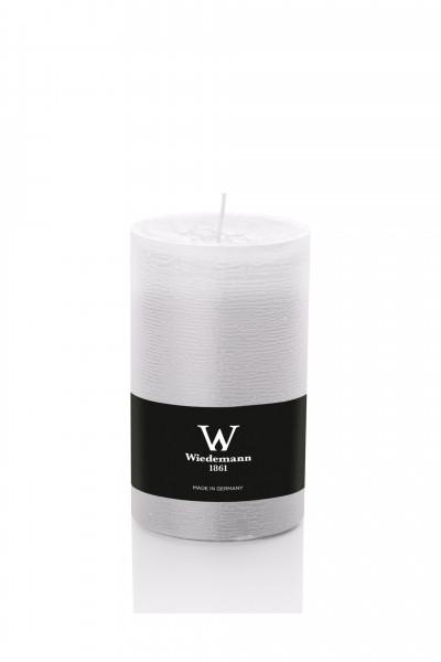 Wiedemann Marble Kerzen durchgefärbt, 130x68 mm, weiß, 8 Stück