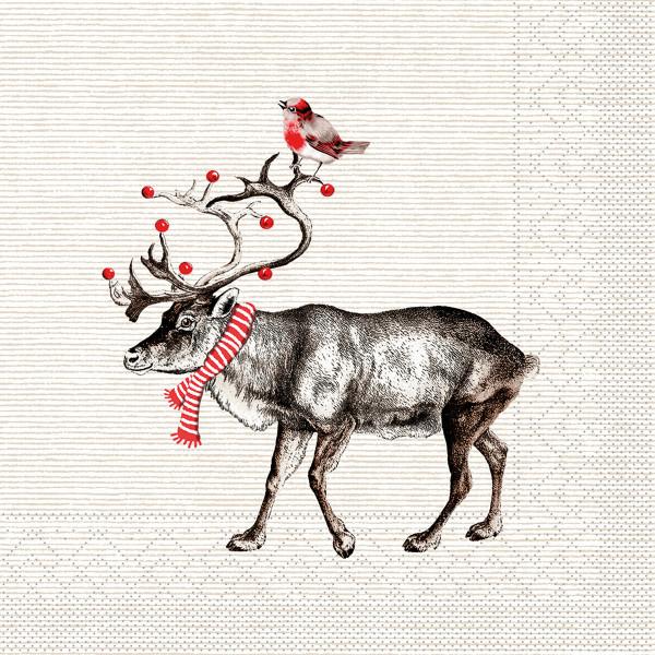 MANK Weihnachtsserviette KNUT, Tissue 33x33 cm, 3-lagig, 600 Stück
