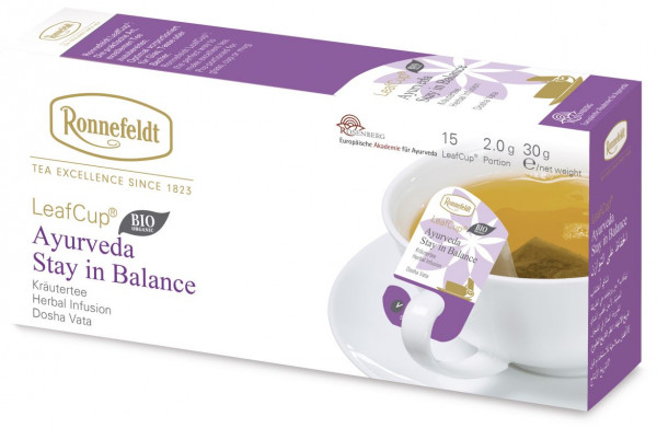Ronnefeldt Ayurveda Tee, Stay in Balance , 6 x 15 LeafCup-BIO