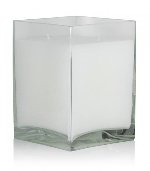 Kerzenglas mit Wachsfüllung 25 cm x 18 cm x 18 cm