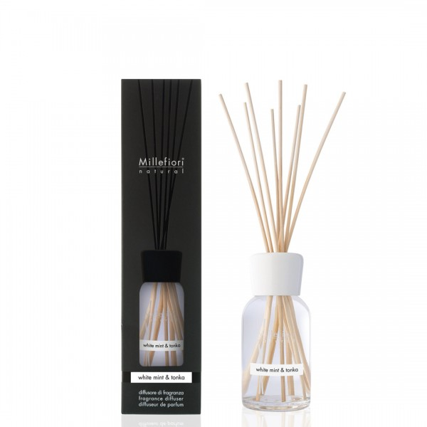 WHITE MINT & TONKA Millefiori Duftdiffuser 250ml, Natural Fragrances,1 Stück