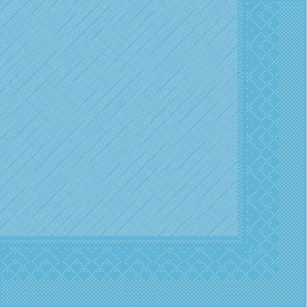 MANK Servietten aus Tissue 3-lagig, 33x33 cm, aquablau