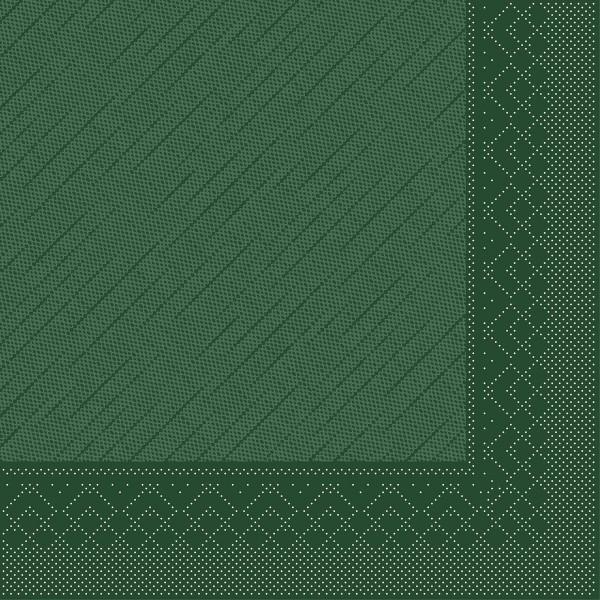 MANK Servietten aus Tissue 3-lagig, 33x33 cm, grün