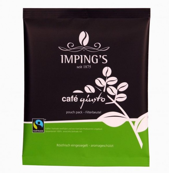 GIUSTO FAIRTRADE Röstkaffee Volle Kanne Filterbeutel
