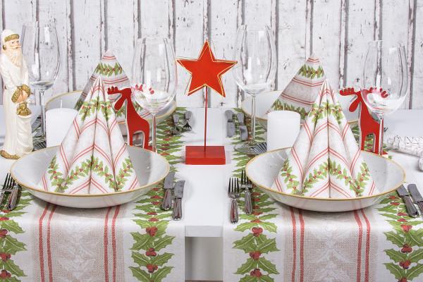 MANK Weihnachtsserviette MAGDA 40x40 cm, Linclass, 300 Stück