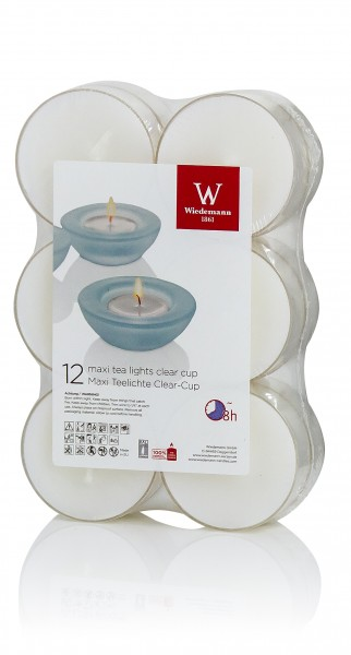 Maxi Qualitäts Teelichte 144 Stück (12 x 12 Stück)