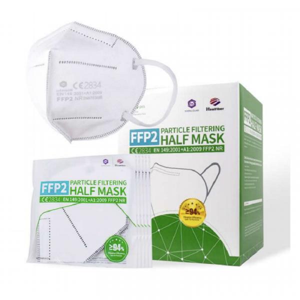 FFP2 CE zertifizierte Partikelfiltrierende Halbmasken, CE2834,EN149:2001+A1:2009 Beutel je 2 Stück.