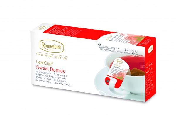 Ronnefeldt LeafCup Sweet Berries, 6 x 15 LeafCup