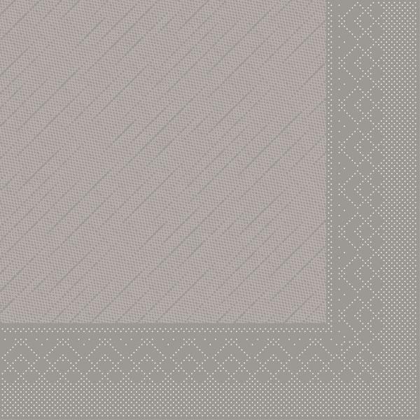 MANK Servietten aus Tissue 3-lagig, 33x33 cm, grau