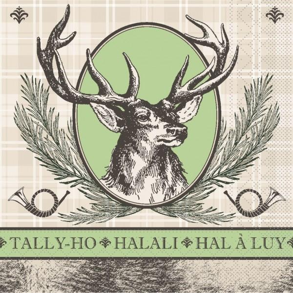 """MANK Servietten Cottage Style, """" HALALI """" aus Tissue, 3-lagig, 40x40 cm"""