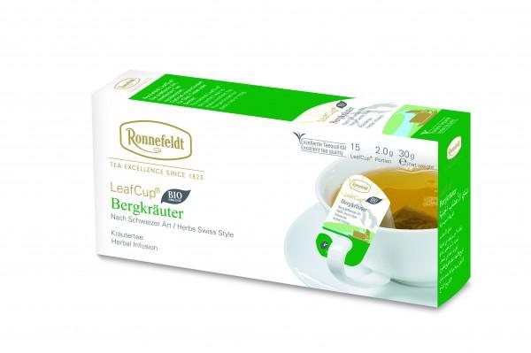 Ronnefeldt Tee LeafCup Bergkräuter, 6 x 15 Stück