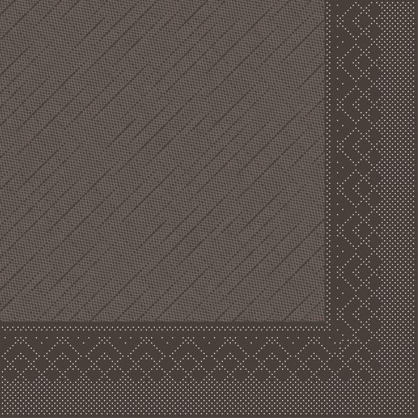 Mank Servietten Tissue Deluxe, 4-lagig, 40 x 40 cm, 12 x 50 Stück, braun